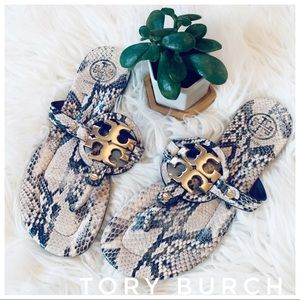 TORY BURCH snakeskin Leather Sandals